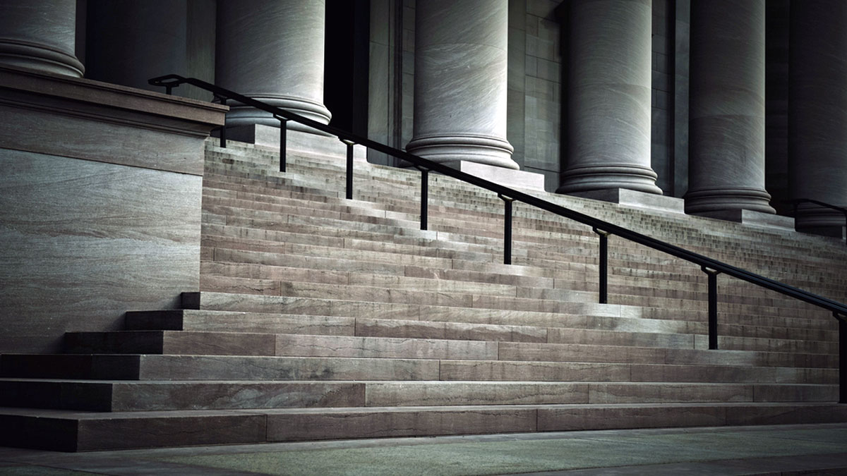 Courthouse Pillars & Stairs