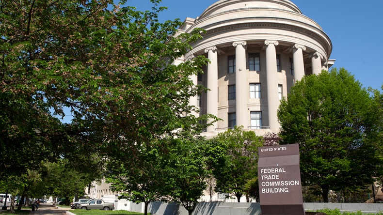 WASHINGTON, DC - MAY 4: Federal Trade Commission Headquarters in downtown Washington, DC on May 4, 2015.