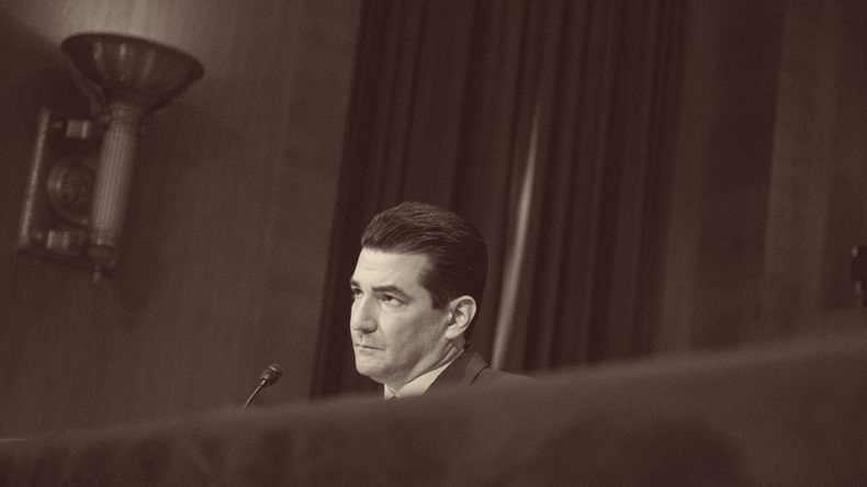 FDA Commissioner-designate Scott Gottlieb testifies during a Senate Health, Education, Labor and Pensions Committee hearing on April 5, 2017 at on Capitol Hill in Washington, D.C. (Photo by Zach Gibson/Getty Images)