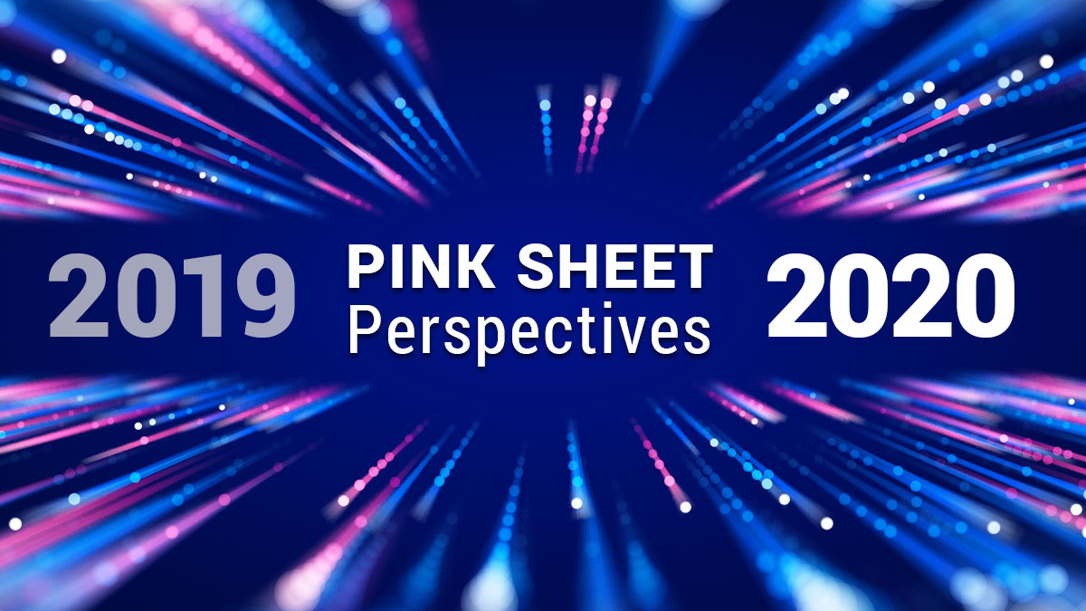 Pink Sheet Perspectives 2019 to 2020
