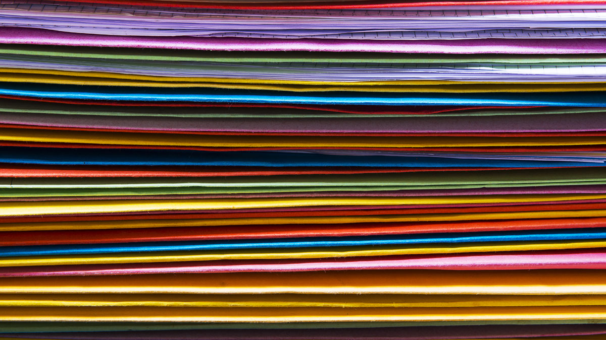 Colorful office folders