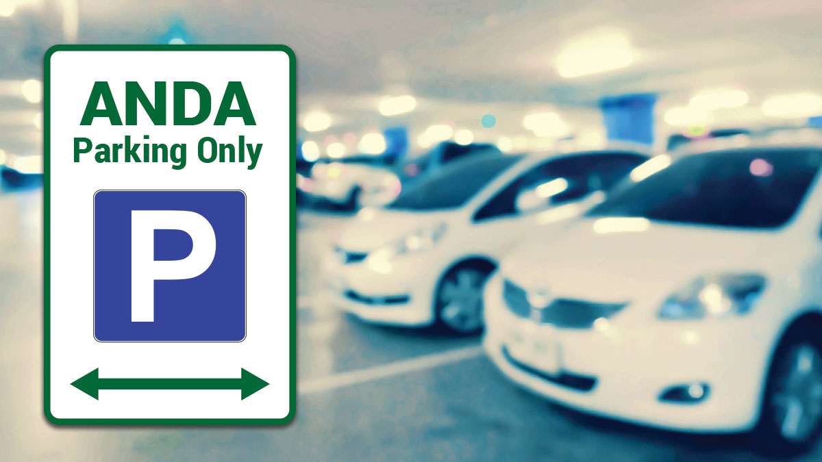 ANDA Parking only sign in Parking lot