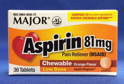 Major Asprin 81 mg chewables