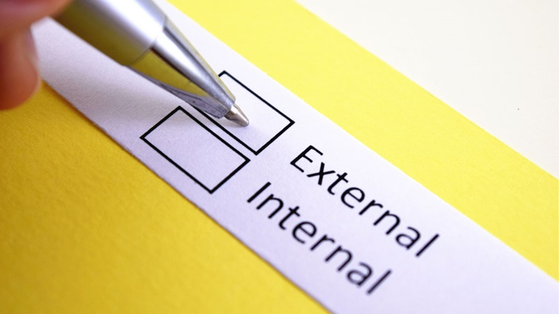 External or internal? External