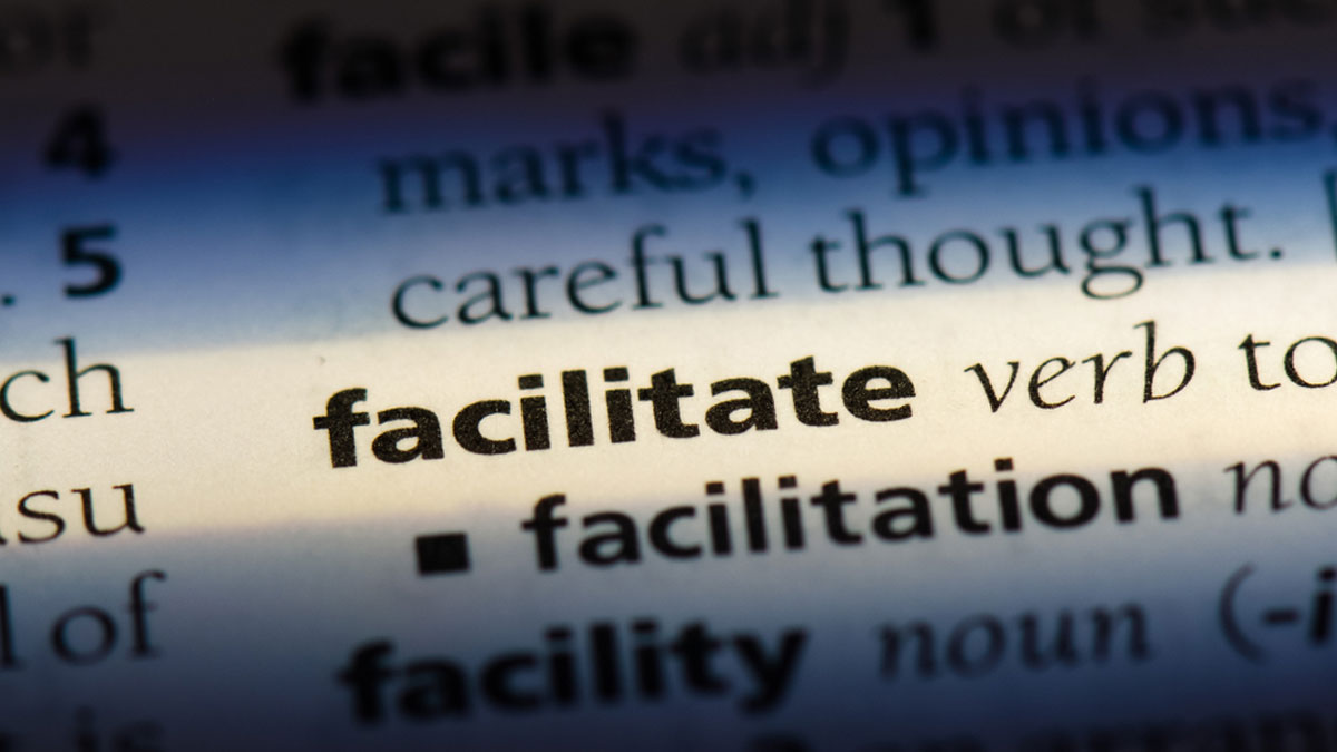 facilitate word in a dictionary. facilitate concept - Image
