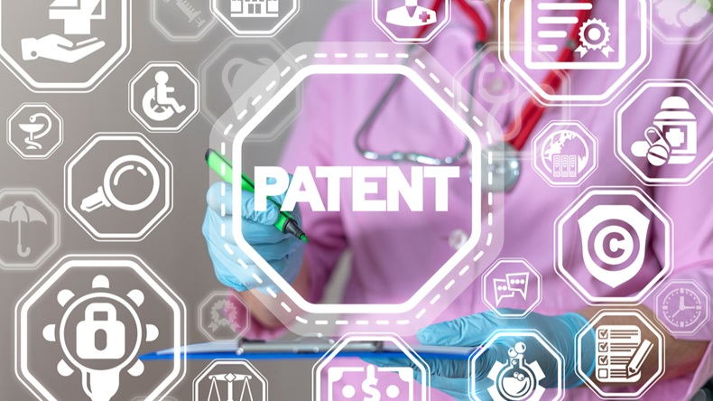 Patent Health Care Pharmaceuticals Innovation concept.