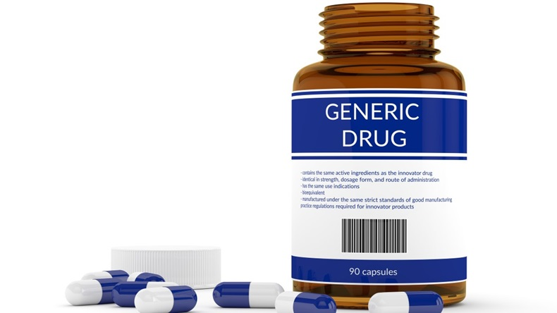 Bottle of generic drugs