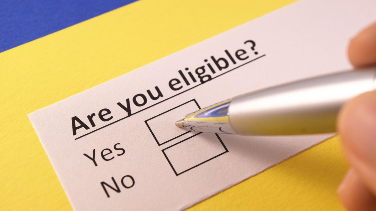 Are you Eligible? check boxes