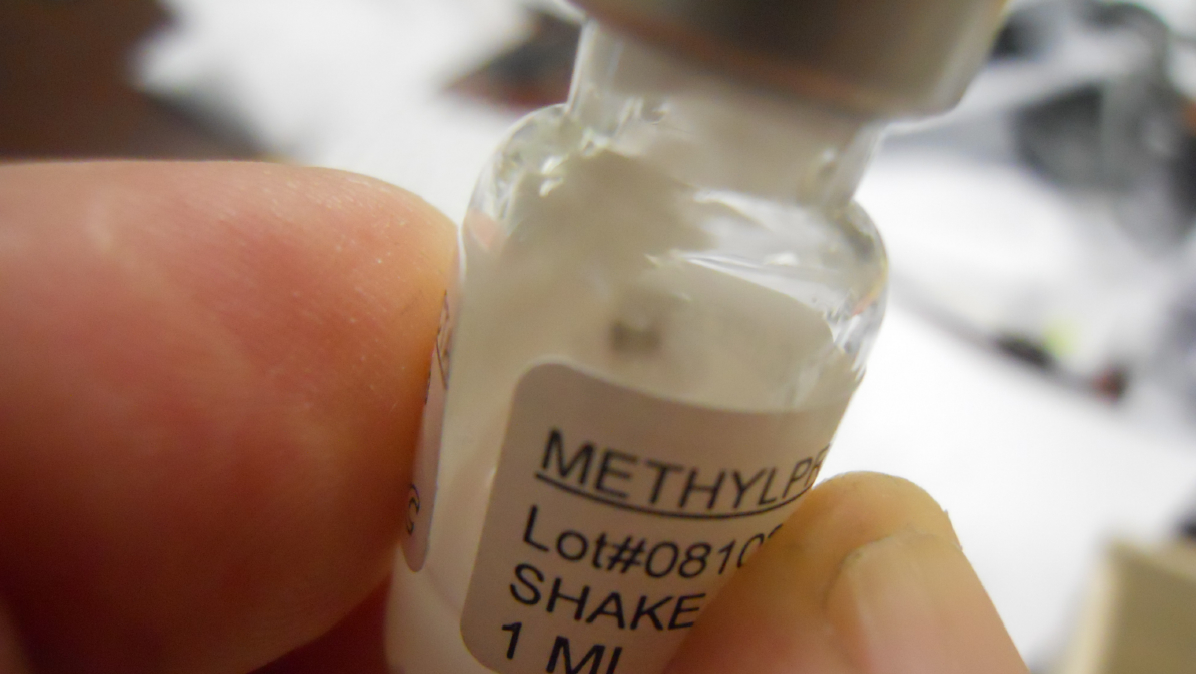 contaminated vial of methylprednisolone